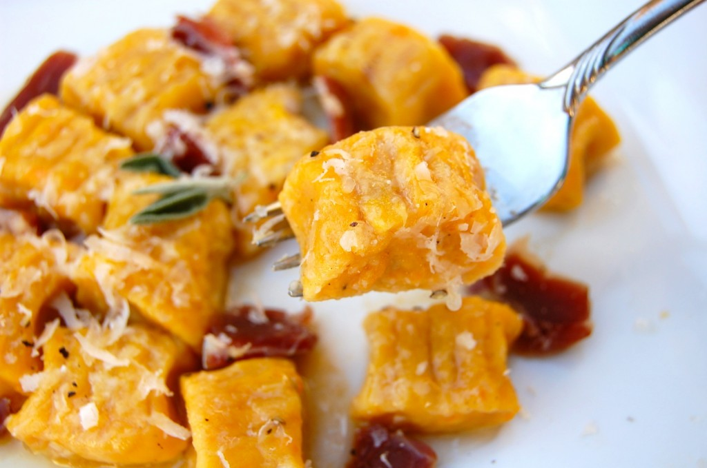 Butternut Squash Gnocchi with Prosciutto and Sage Brown Butter -