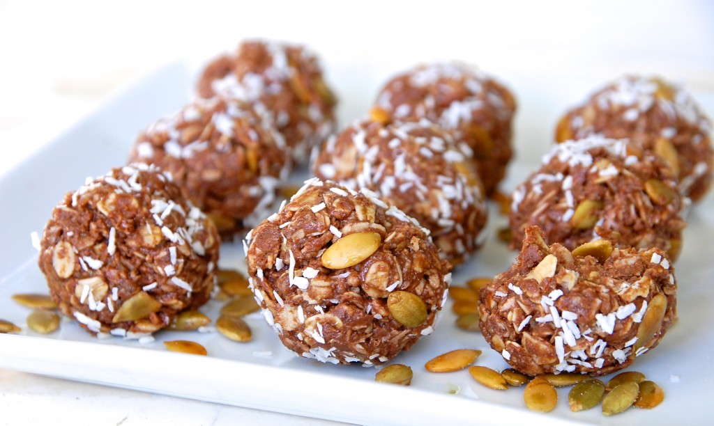 Chocolate, Coconut and Peanut Butter Energy Truffles