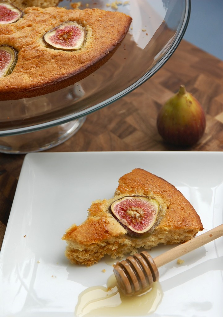 fig+honey buttermilk cake