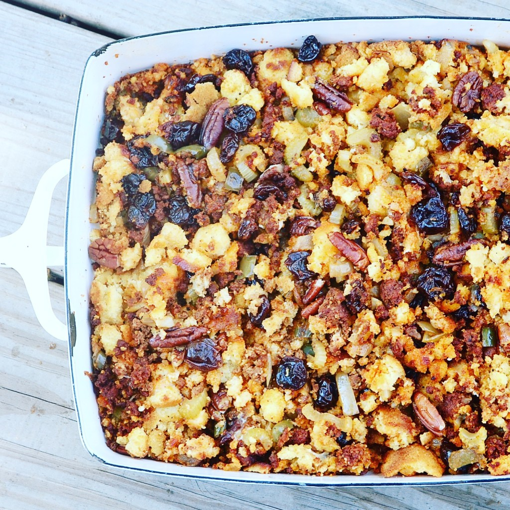 cherry chorizo stuffing