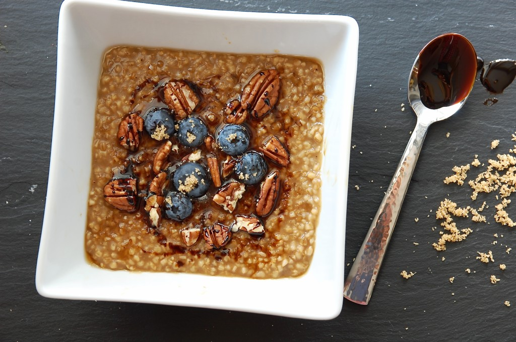 molasses + maple steel cut oats